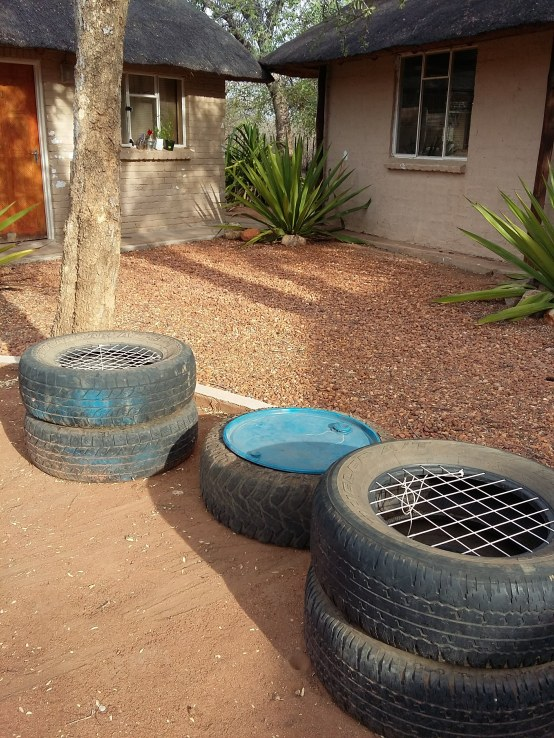 Comfy old tyre chairs