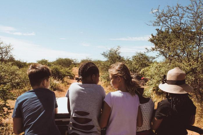 Game drive with the nyala
