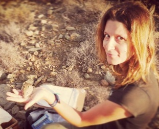 Nadine collecting data on small mammals in the field