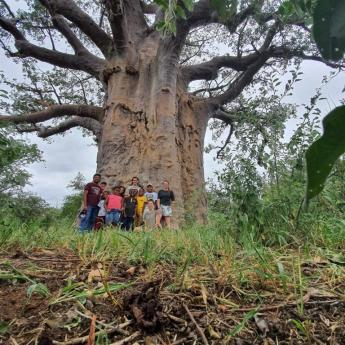 Baobab posing on the field trip