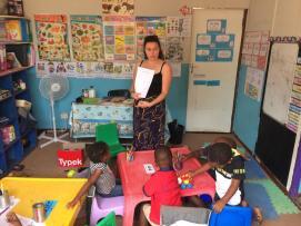 Teacher Ruby teaching healthy living